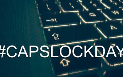 CapslockDay omaggiare l'importanza del tasto che fa le lettere maiuscole